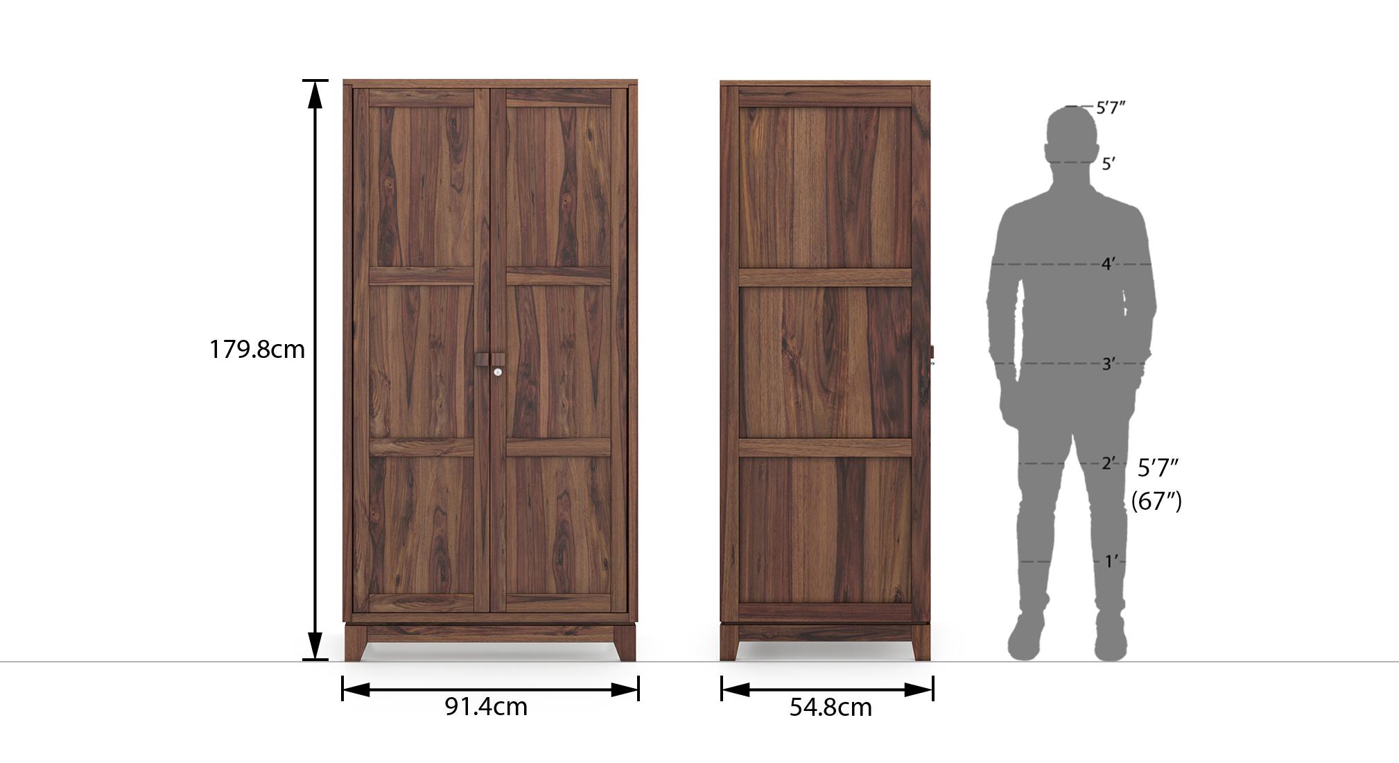 Magellan wardrobe finish teak 20