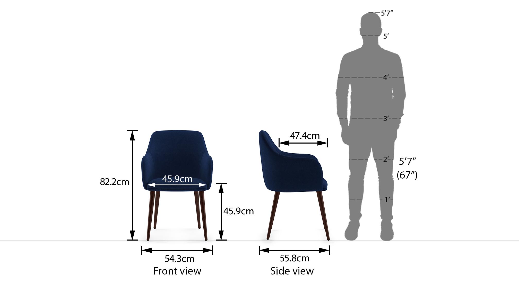 Owen lounge chair matte midnight blue 21