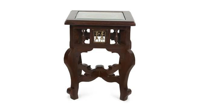Janaki End Table (Walnut, Matte Finish) by Urban Ladder - Front View Design 1 - 371073