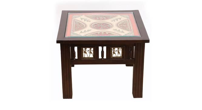 Kashvi End Table (Walnut, Matte Finish) by Urban Ladder - Front View Design 1 - 371079