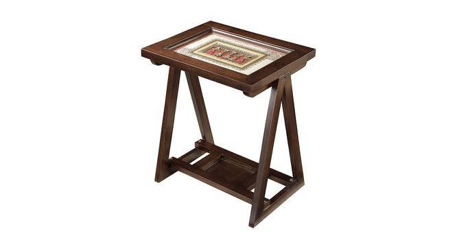 Kavya End Table (Walnut, Matte Finish) by Urban Ladder - Cross View Design 1 - 371124