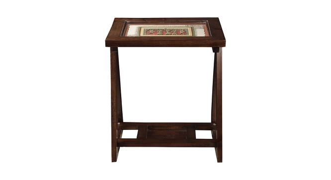 Kavya End Table (Walnut, Matte Finish) by Urban Ladder - Front View Design 1 - 371138