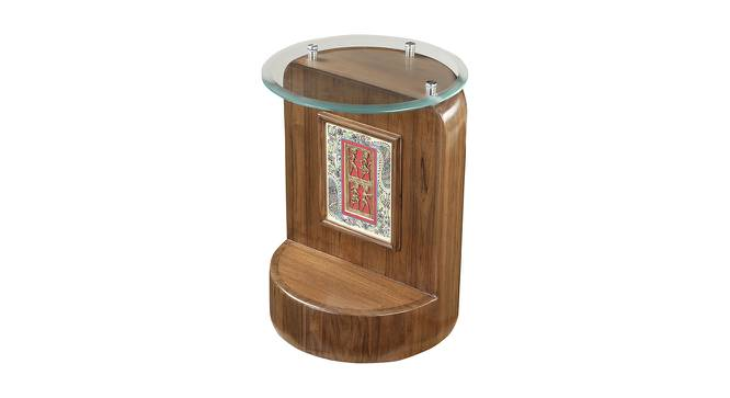 Khushi End Table (Walnut, Matte Finish) by Urban Ladder - Front View Design 1 - 371139