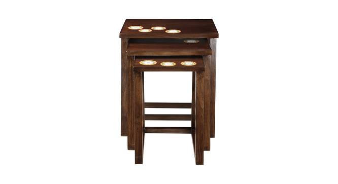 Kruthika Nest Of Table (Walnut, Matte Finish) by Urban Ladder - Front View Design 1 - 371143
