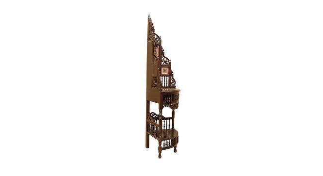 Leena Corner Table (Walnut, Matte Finish) by Urban Ladder - Front View Design 1 - 371145