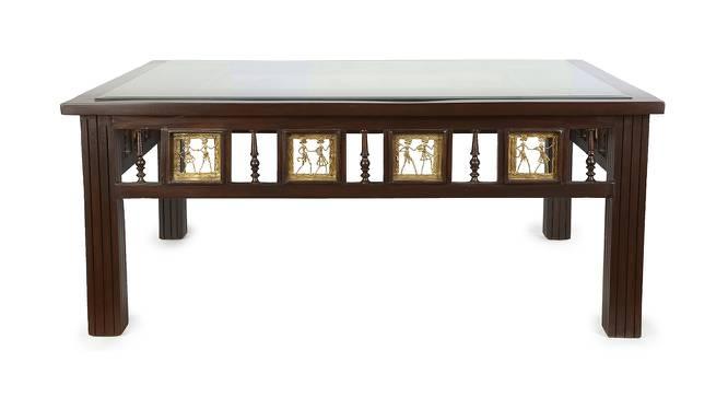 Lajita Coffee Table (Walnut, Matte Finish) by Urban Ladder - Front View Design 1 - 371149