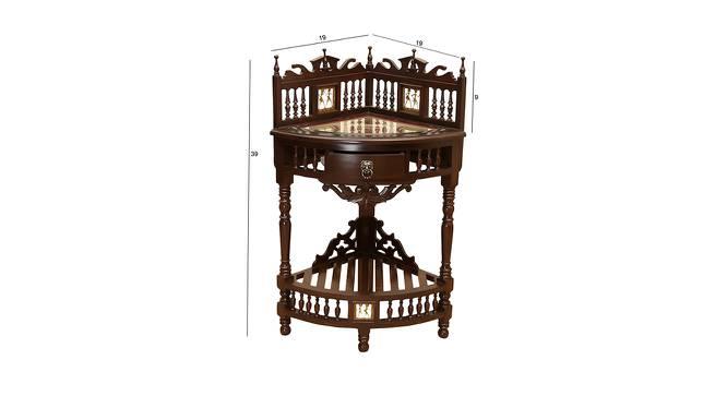Lekha Corner Table (Walnut, Matte Finish) by Urban Ladder - Design 1 Dimension - 371171