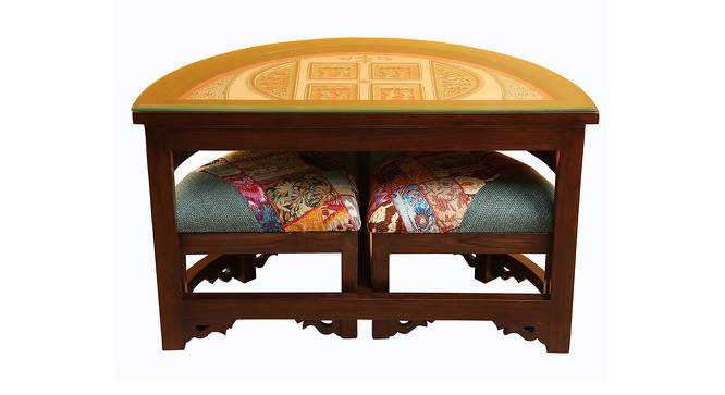 Megha Coffee Table (Walnut, Matte Finish) by Urban Ladder - Front View Design 1 - 371200