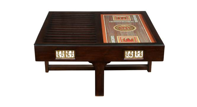 Niharika Coffee Table (Walnut, Matte Finish) by Urban Ladder - Front View Design 1 - 371202