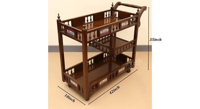 Netra Bar Cabinet (Walnut, Matte Finish) by Urban Ladder - Design 1 Dimension - 371220