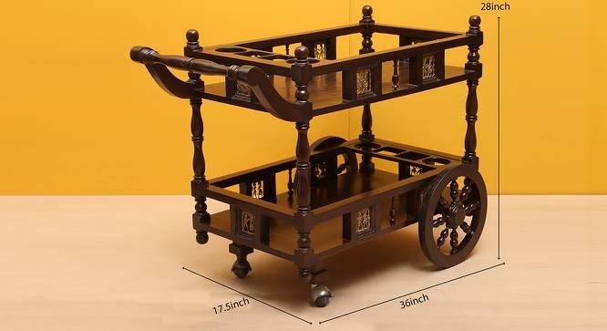 Nidra Bar Cabinet (Walnut, Matte Finish) by Urban Ladder - Design 1 Dimension - 371221