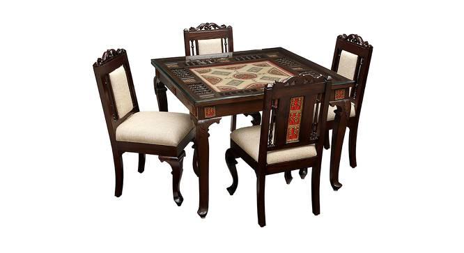 Omya Dining Table (Walnut, Matte Finish) by Urban Ladder - Cross View Design 1 - 371246