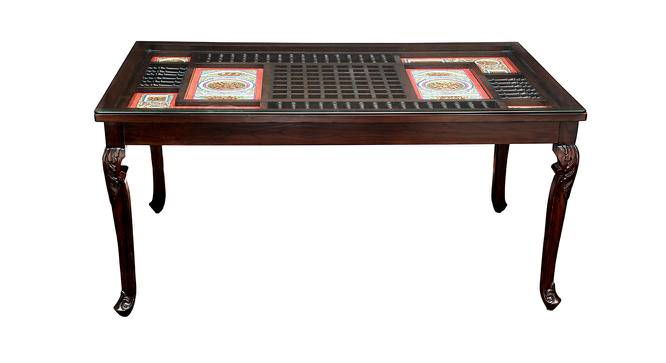 Omisha Dining Table (Walnut, Matte Finish) by Urban Ladder - Front View Design 1 - 371253