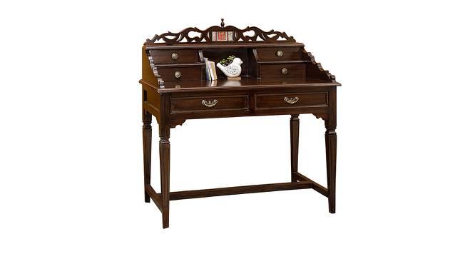 Pari Study Table (Walnut, Matte Finish) by Urban Ladder - Cross View Design 1 - 371304