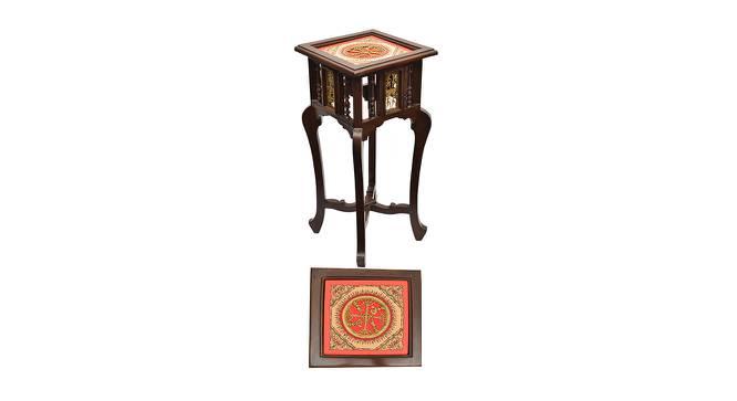 Rashini End Table (Walnut, Matte Finish) by Urban Ladder - Front View Design 1 - 371315