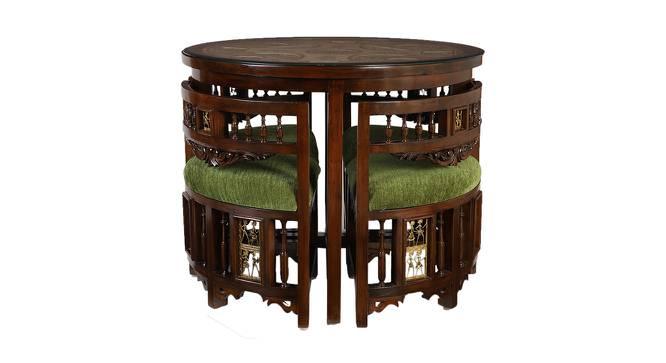 Oviya Dining Table (Walnut, Matte Finish) by Urban Ladder - Front View Design 1 - 371316