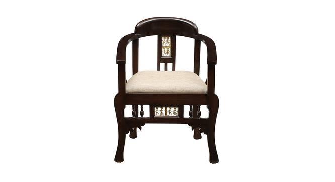Radha Lobby Chair (Walnut, Matte Finish) by Urban Ladder - Front View Design 1 - 371320