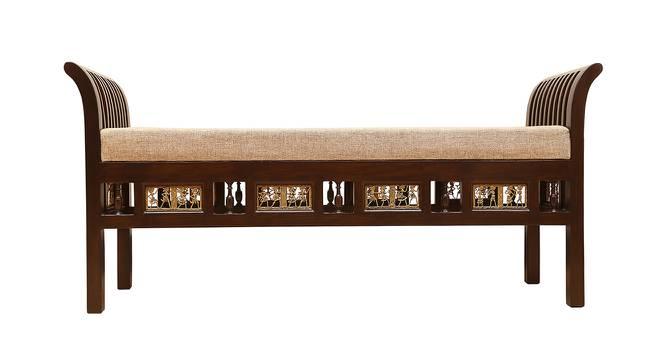 Rajata Lobby Chair (Walnut, Matte Finish) by Urban Ladder - Front View Design 1 - 371321