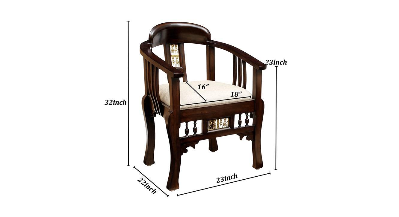Radha lobby chair walnut color matte finish 6