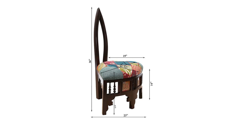Saanvi lobby chair walnut color matte finish 6