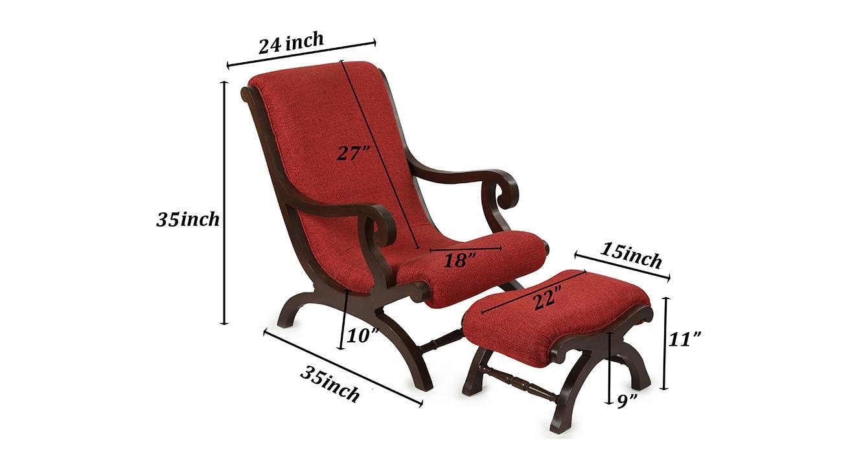 Sahana lobby chair walnut color matte finish 6