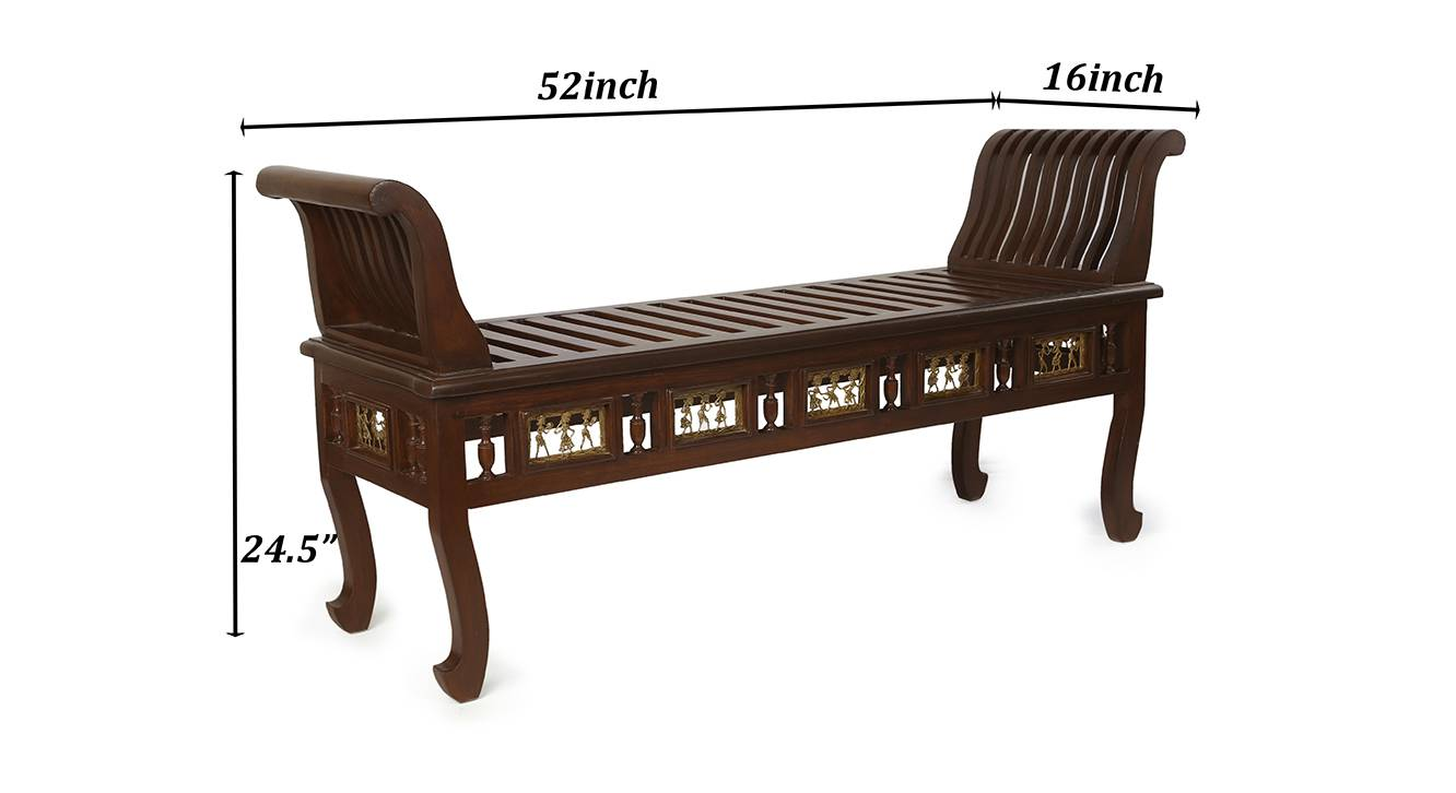 Prithina lobby chair walnut color matte finish 6