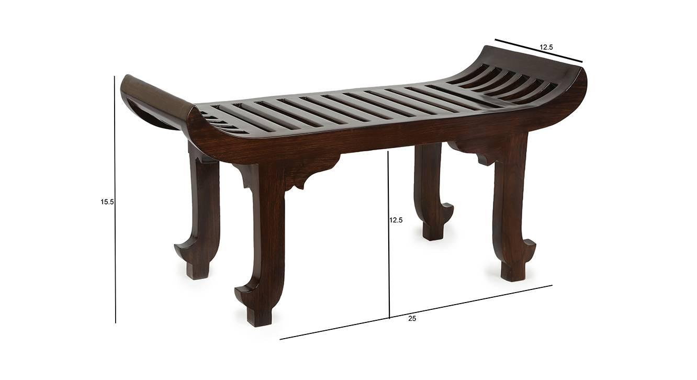 Sai lobby chair walnut color matte finish 6