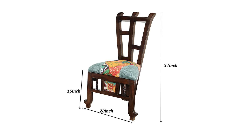 Saumya lobby chair walnut color matte finish 6