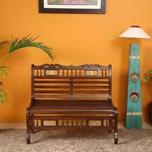 Trisha Garden Bench (Walnut, Matte Finish) by Urban Ladder - Cross View Design 1 - 371424