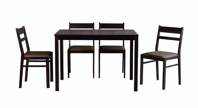 Ansley 4 Seater Dining Set (Wenge, Veneer Finish) by Urban Ladder - Cross View Design 1 - 371465