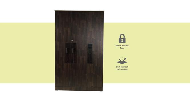 Averie 3 door Wardrobe (Melamine Finish, Wenge) by Urban Ladder - Cross View Design 1 - 371473