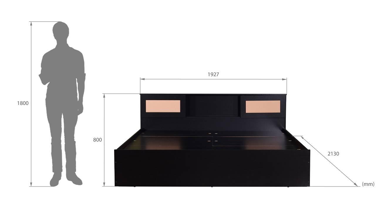 Aran storage bed wenge color laminate finish 6