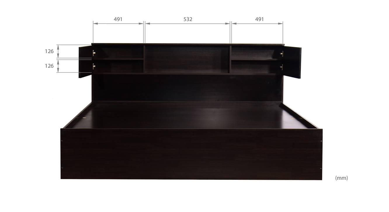 Antioco storage bed wenge color melamine finish 7