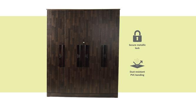 Carmen 4 door Wardrobe (Melamine Finish, Wenge) by Urban Ladder - Front View Design 1 - 371565