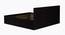 Caroline Bed (Queen Bed Size, Laminate Finish, Wenge) by Urban Ladder - Design 1 Side View - 371584