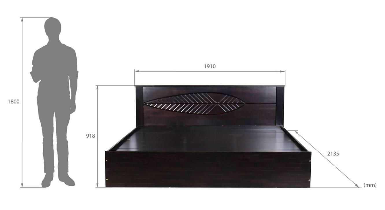 Capraia storage bed wenge color melamine finish 6