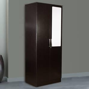 Cassidy 2 door wardrobe with mirror wenge color laminate finish lp