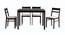 Corinne 4 Seater Dining Set (Wenge, Veneer Finish) by Urban Ladder - Cross View Design 1 - 371631