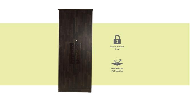 Daniella 2 door Wardrobe (Melamine Finish, Wenge) by Urban Ladder - Front View Design 1 - 371650