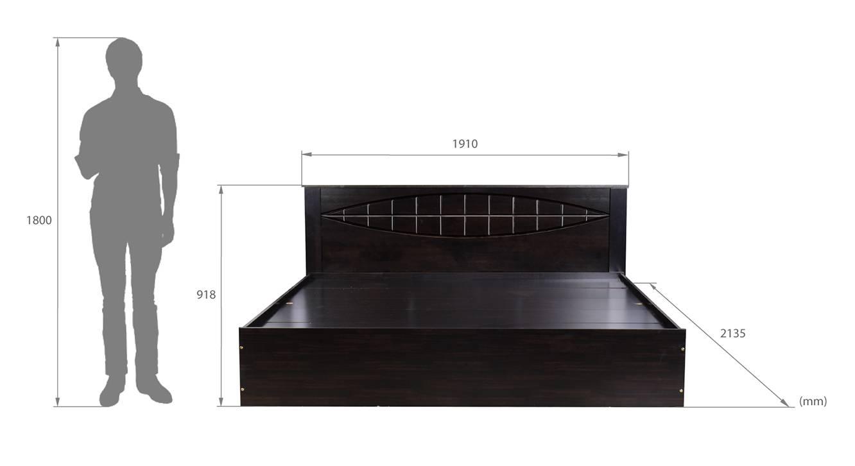 Egadi storage bed wenge color melamine finish 6