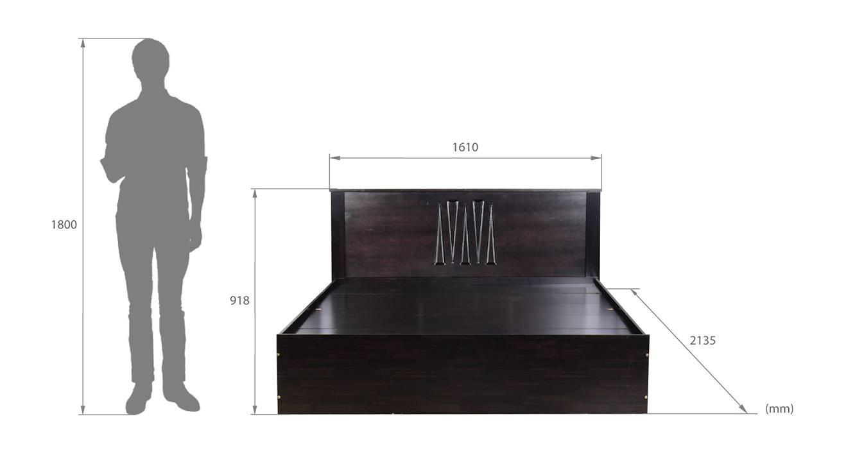 Elba storage bed wenge color melamine finish 6