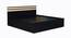 Flint Bed (King Bed Size, Laminate Finish, Wenge) by Urban Ladder - Cross View Design 1 - 371906