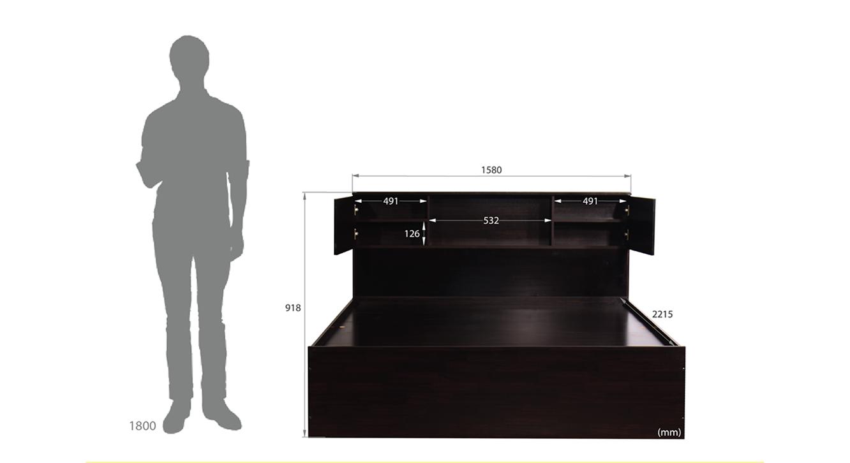 Goto storage bed wenge color melamine finish 6