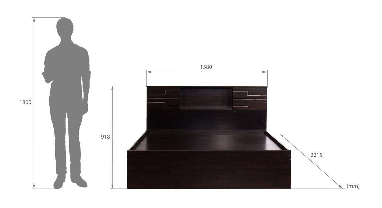 Honshu storage bed wenge color melamine finish 6