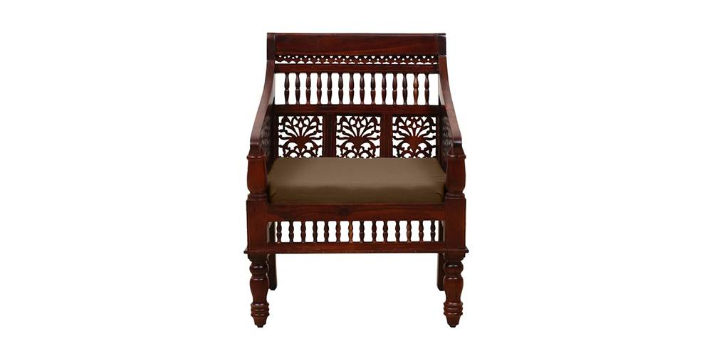 Navya Wooden Sofa - Honey Oak by Urban Ladder - -