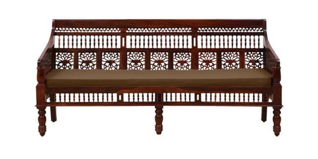 Pihu Wooden Sofa - Honey Oak (3-seater Custom Set - Sofas, None Standard Set - Sofas, Fabric Sofa Material, Regular Sofa Size, Regular Sofa Type, HONEY)