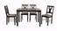 Kimora 4 Seater Dining Set (Wenge, Veneer Finish) by Urban Ladder - Cross View Design 1 - 372041