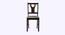 Kimora 4 Seater Dining Set (Wenge, Veneer Finish) by Urban Ladder - Rear View Design 1 - 372065