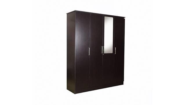 Maisie 4 door Wardrobe with Mirror (Laminate Finish, Wenge) by Urban Ladder - Front View Design 1 - 372152
