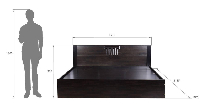 Meloria storage bed wenge color melamine finish 6